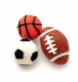 Friendsheep Wool Sporty Kitty Toys (Set of 3)