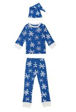 L'oved Baby Snow Ho Ho Long Sleeve Pajama Set with Cap
