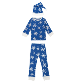 L'oved Baby Snow Ho Ho Long Sleeve Pajama Set with Cap