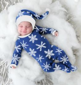 L'oved Baby Snow Ho Ho Footie & Hat Set Preemie