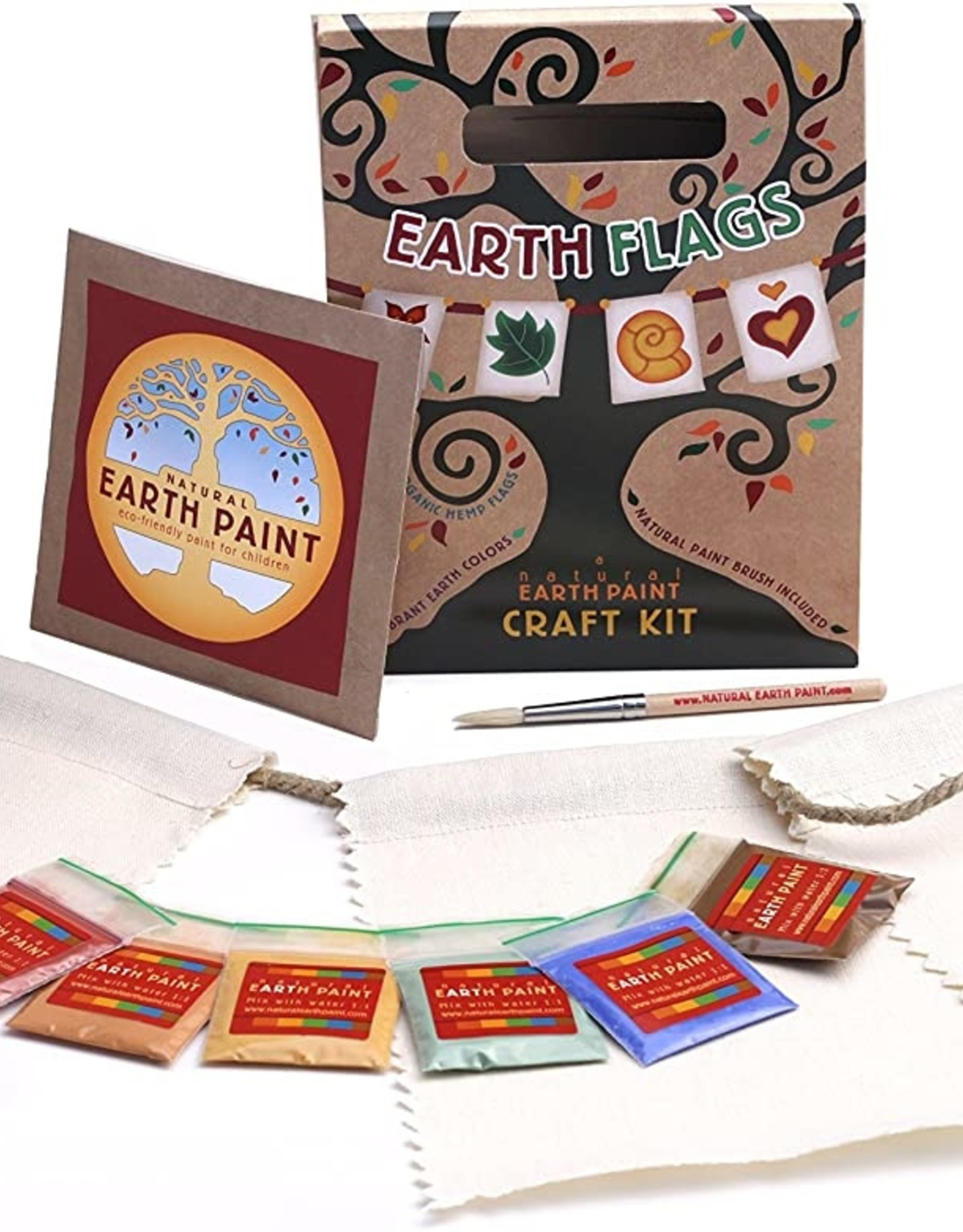 Natural Earth Paint Earth Flags Craft Kit