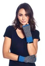 Shupaca Alpaca Fingerless Alpaca Gloves - Color Block - Azul