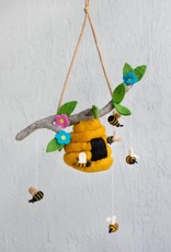 The Winding Road Wool Mobile - Bees