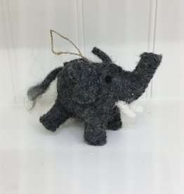 The Winding Road Wool Elephant Ornament
