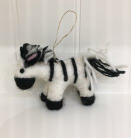 The Winding Road Wool Zebra Ornament