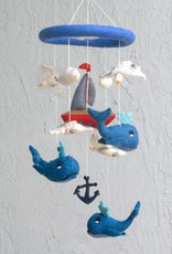 The Winding Road Wool Mobile - Whales