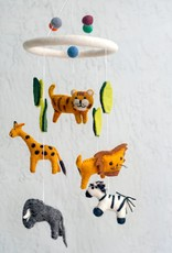 The Winding Road Wool Mobile - Jungle Animals