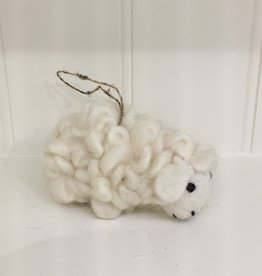The Winding Road Wool Sheep Ornament