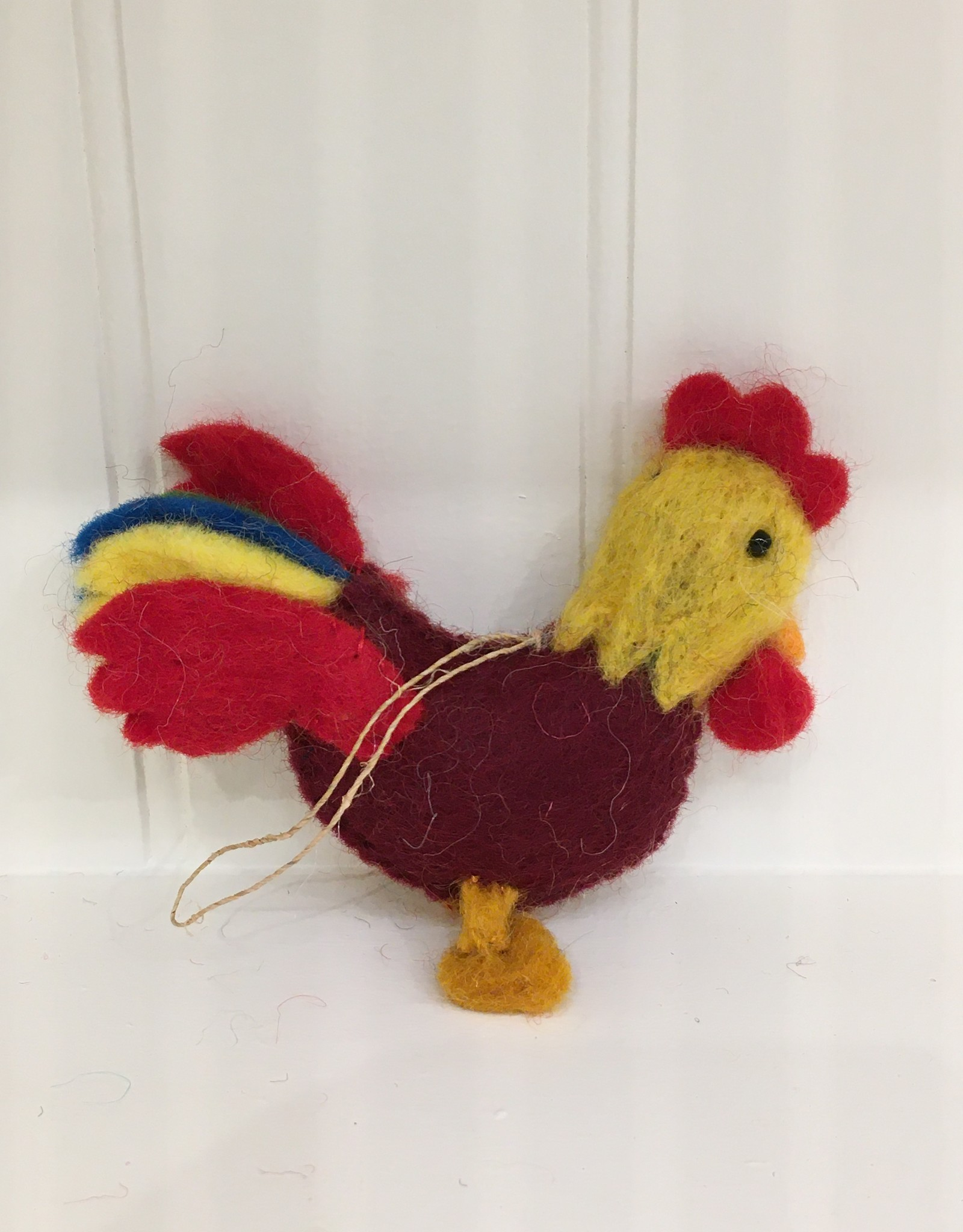 The Winding Road Wool Rooster Ornament