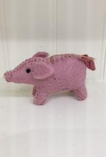The Winding Road Wool Pig Ornament