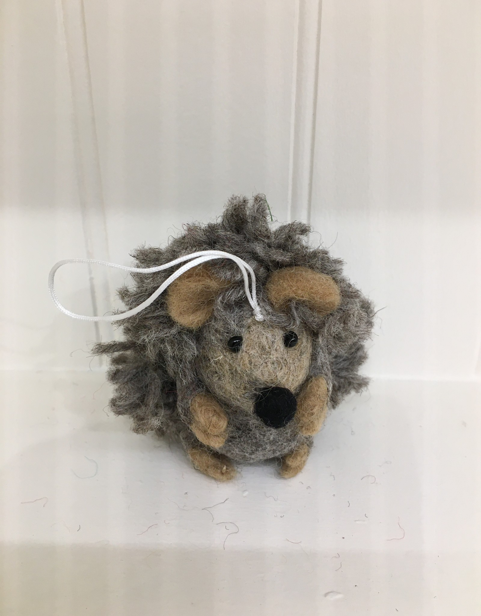 The Winding Road Wool Hedgehog Ornament