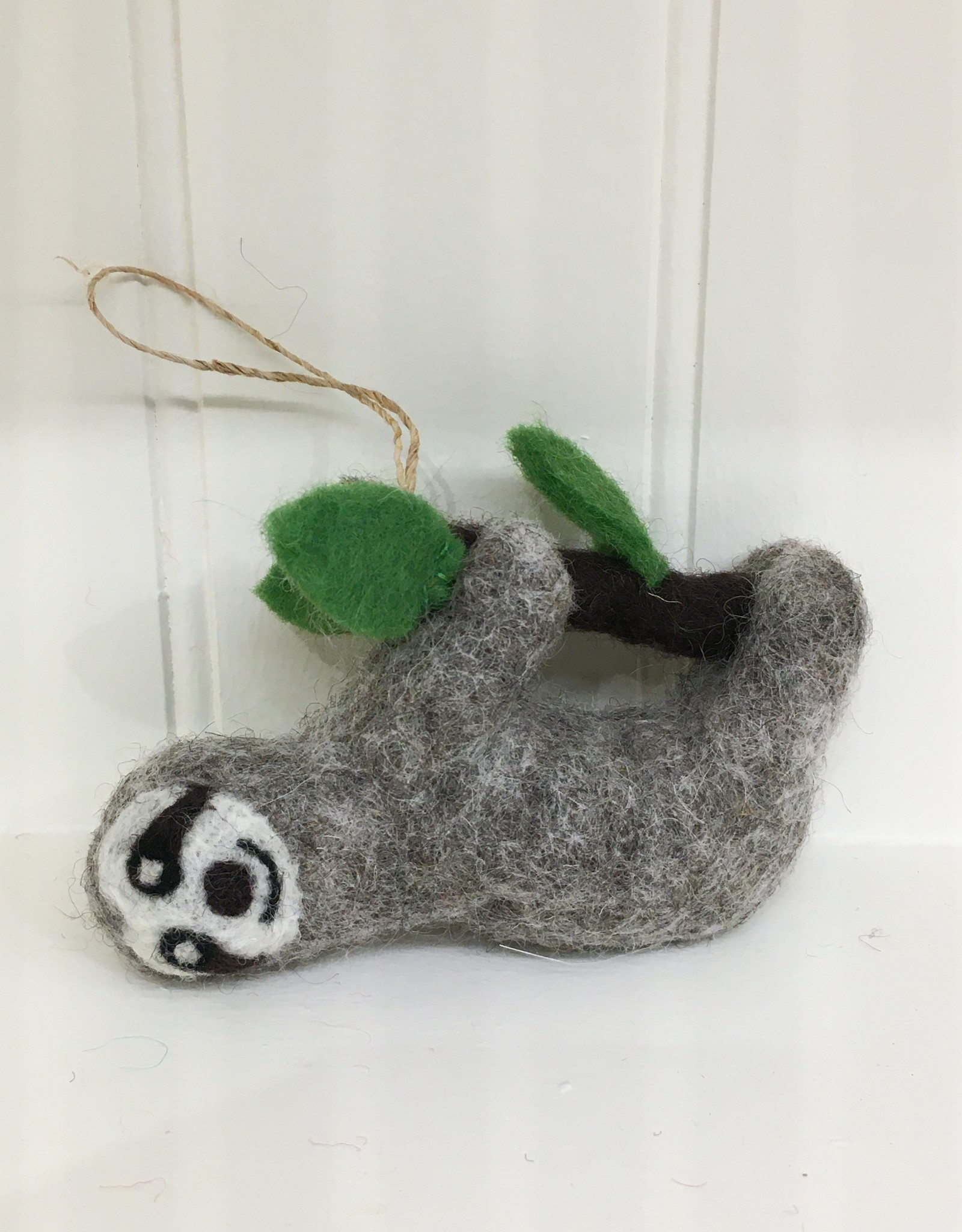 The Winding Road Wool Sloth Ornament