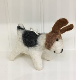 The Winding Road Wool Dog Ornament