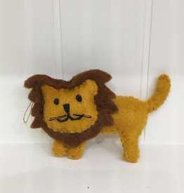 The Winding Road Wool Lion Ornament
