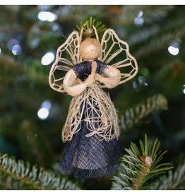 Heavenly Blue Angel Ornament Blue
