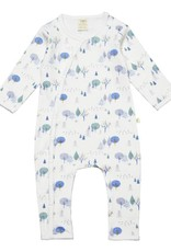 Tiny Twig Button Up Growsuit- Arctic Trail