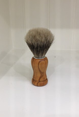 Redecker Shaving Brush- Olive Wood & Badger Hair