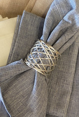 Wire Wrapped Napkin Ring- Silver