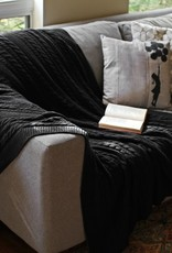 Viverano Cable Knit Throw Black