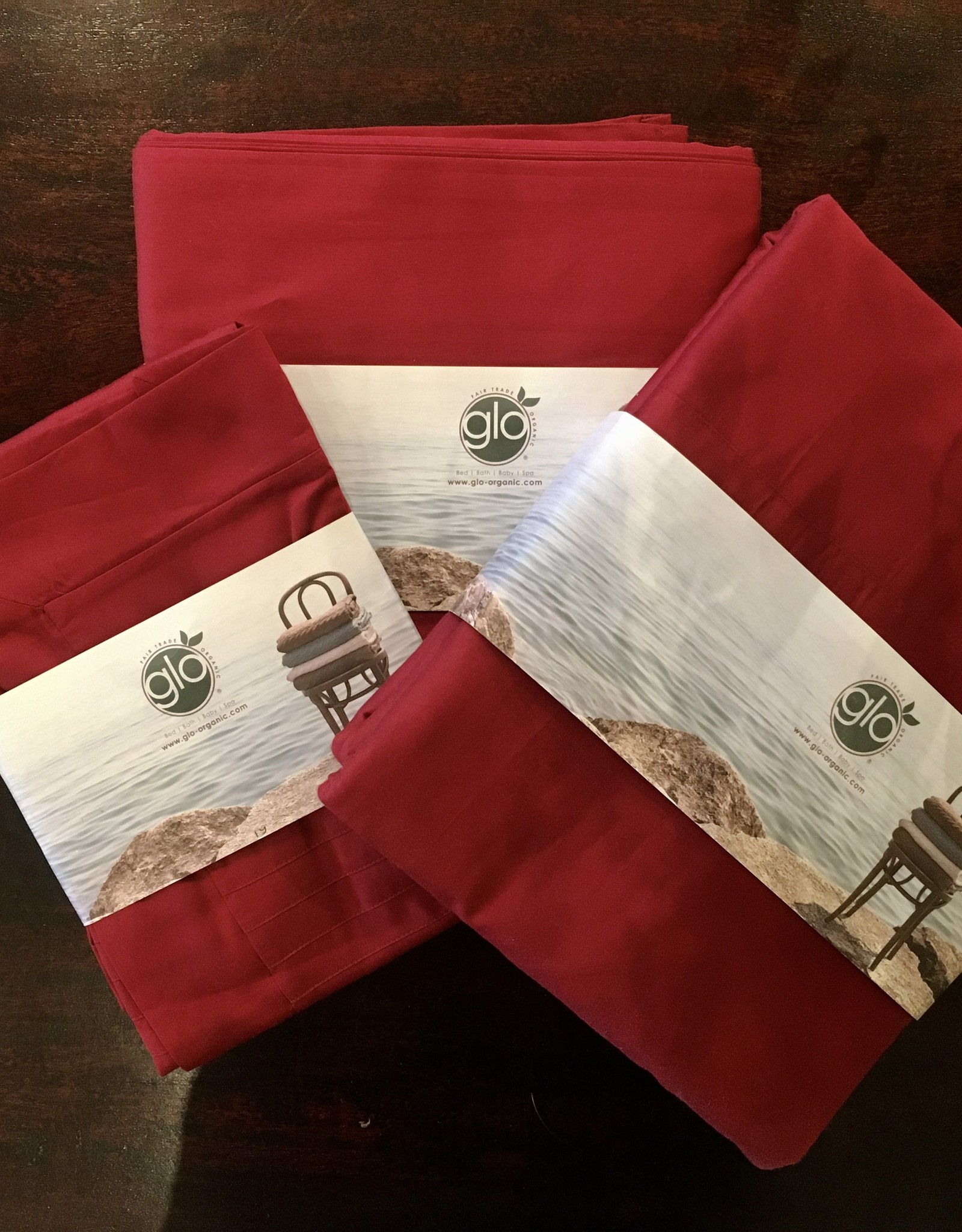 Organic Cotton Bedding - Ruby Red
