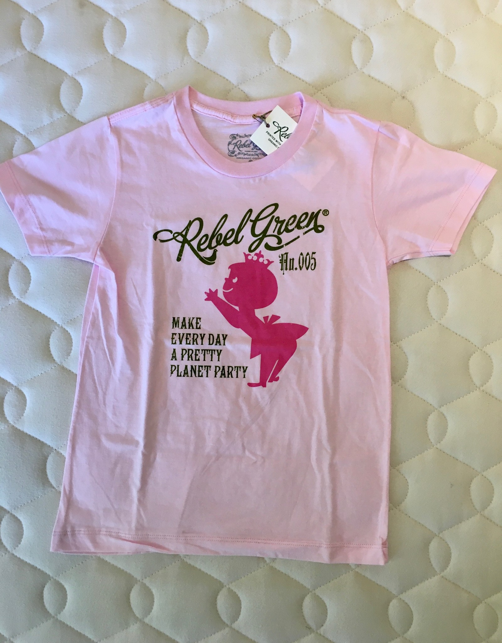 Pretty Planet Tee Pink 3-5Y