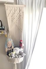 Finn & Emma Macrame Hanging Toy Basket