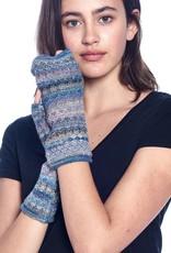 Shupaca Alpaca Fingerless Alpaca Gloves - Printed - Berry