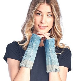 Shupaca Alpaca Fingerless Alpaca Gloves - Fade - Turquoise