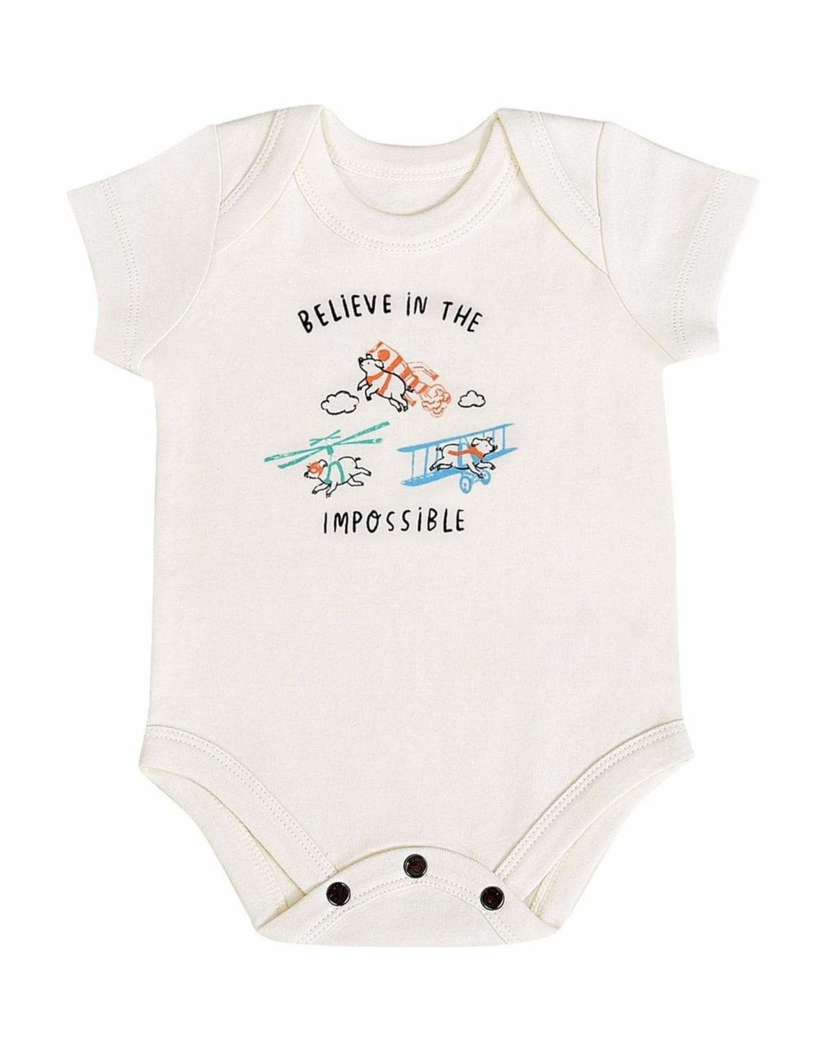 """Finn & Emma Flying Pigs """"Believe""""  Bodysuit"""