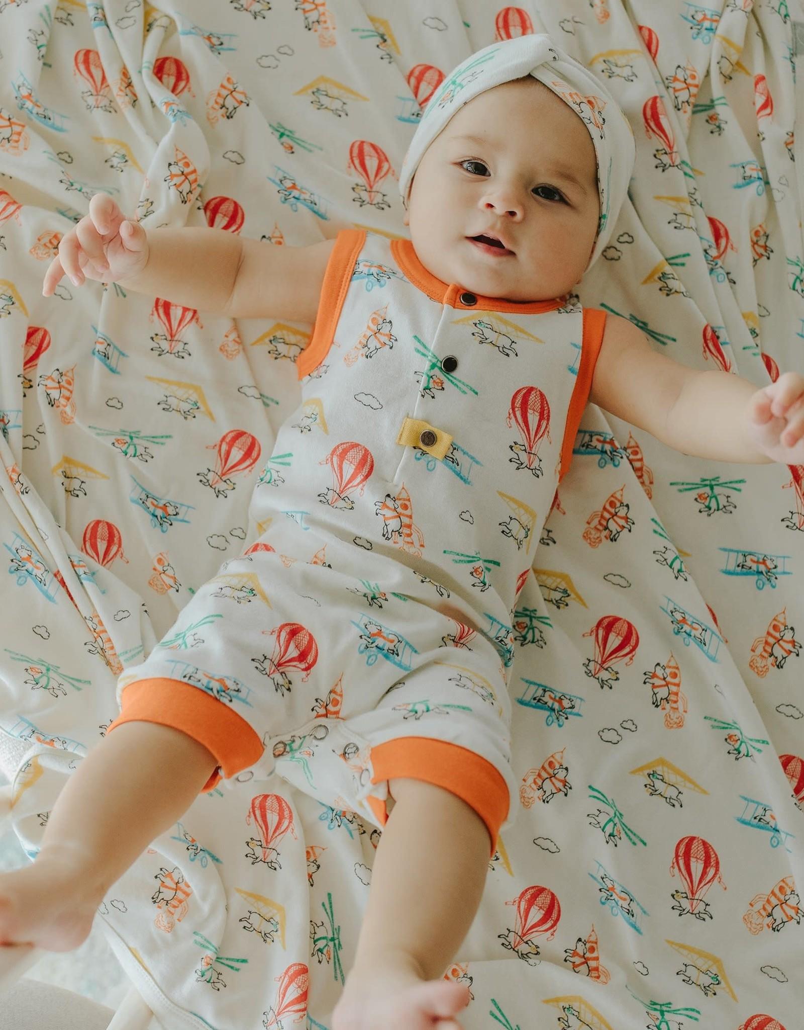 Finn & Emma Flying Pigs Swaddle Blanket