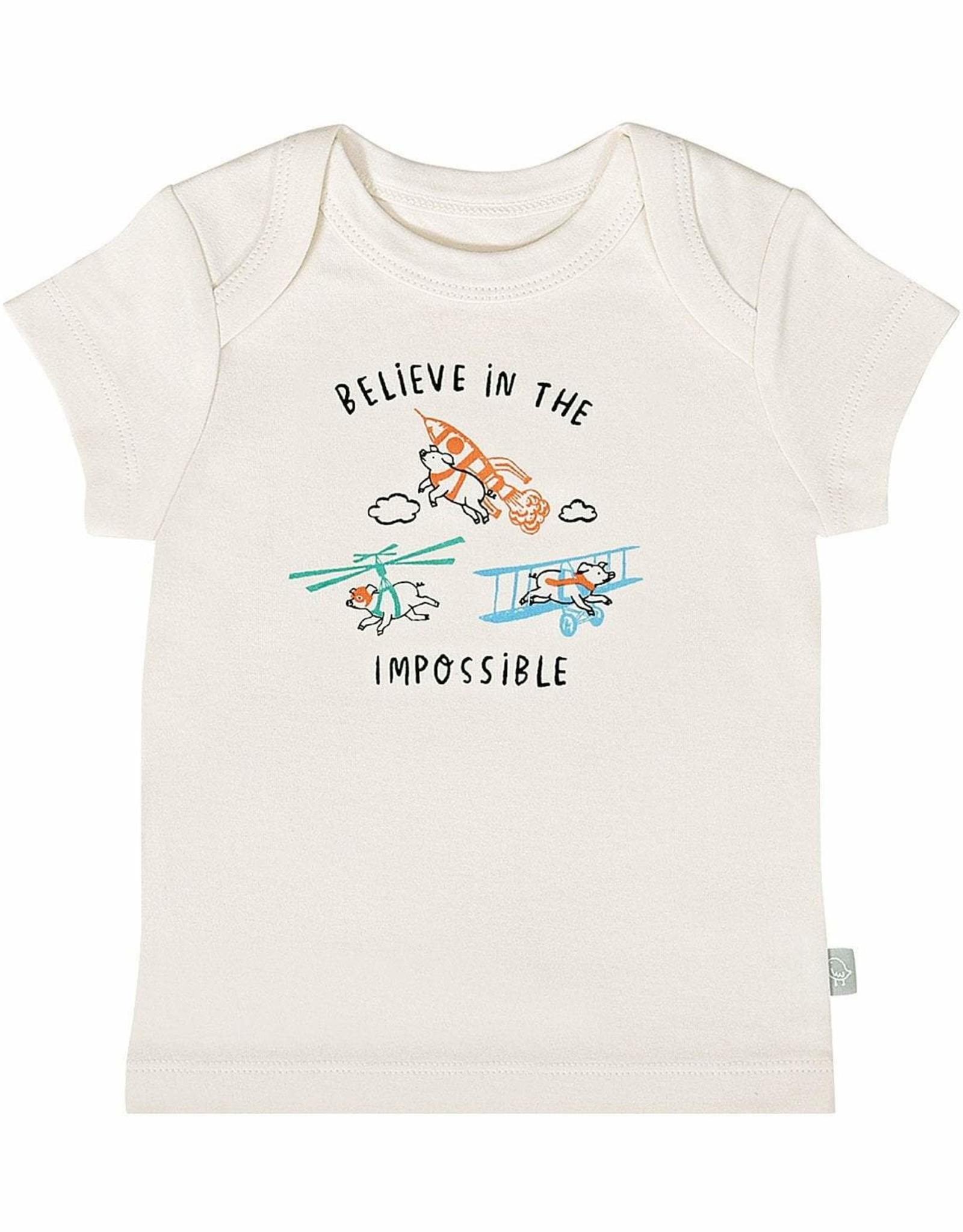 """Finn & Emma Flying Pigs """"Believe""""  Tee"""