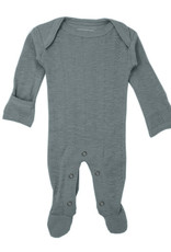 L'oved Baby Pointelle Footie Moonstone