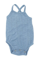 L'oved Baby Pointelle Crossback Bodysuit Pool