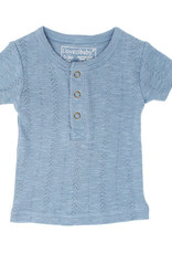 L'oved Baby Pointelle Short Sleeve Henley Pool