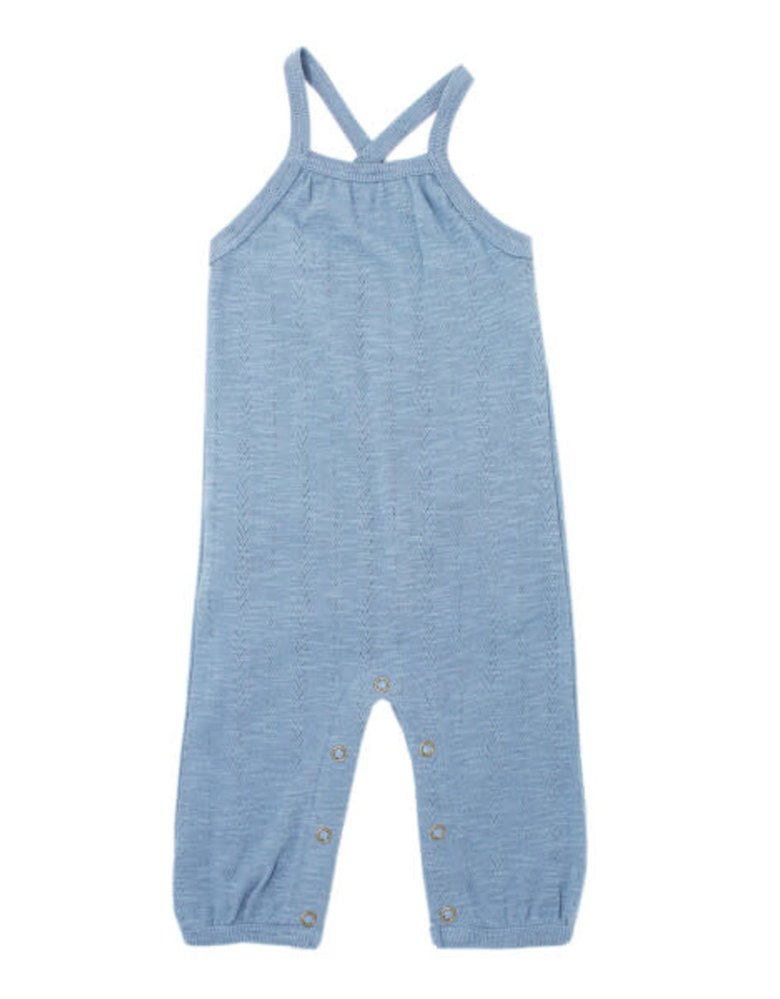 L'oved Baby Pointelle Romper Pool