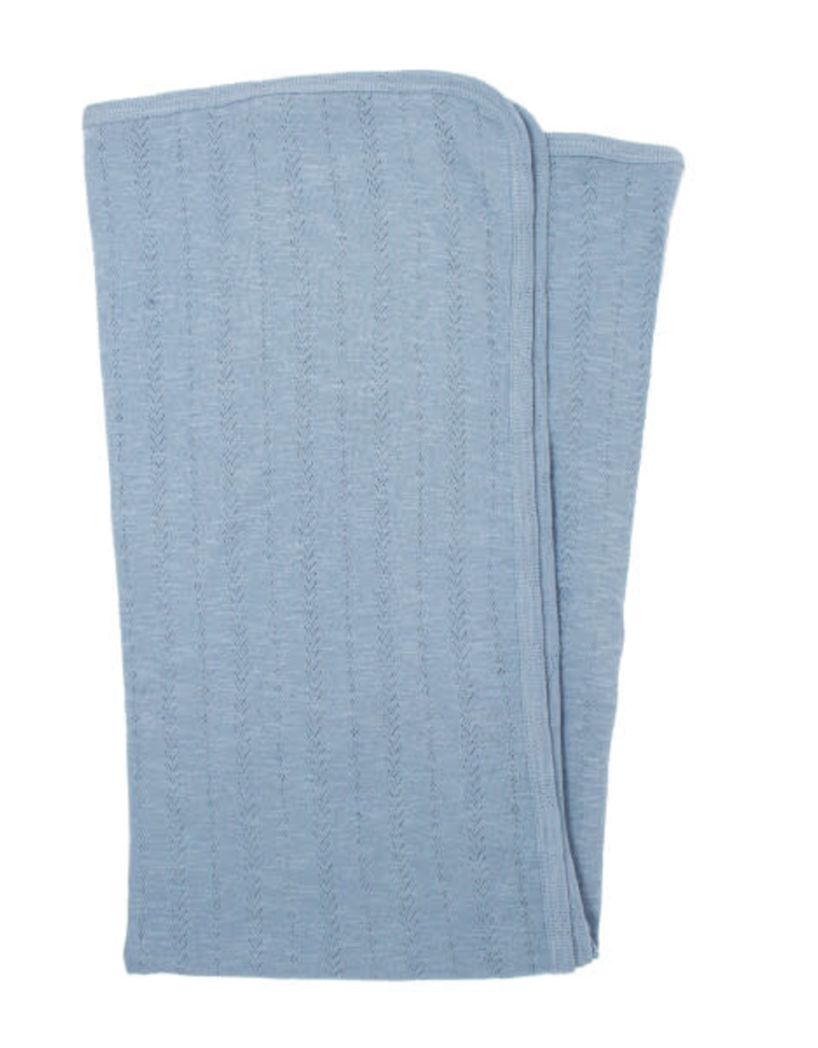 L'oved Baby Pointelle Swaddle Blanket Pool