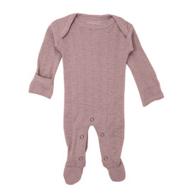 L'oved Baby Pointelle Footie Thistle