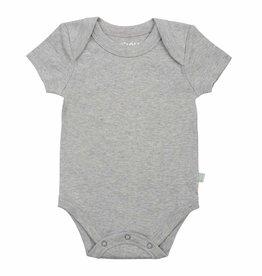 Finn & Emma Basics Bodysuit Gray Short Sleeve 9-12