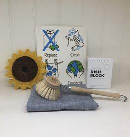 Zero Waste Dishwashing Kit with Soap Block