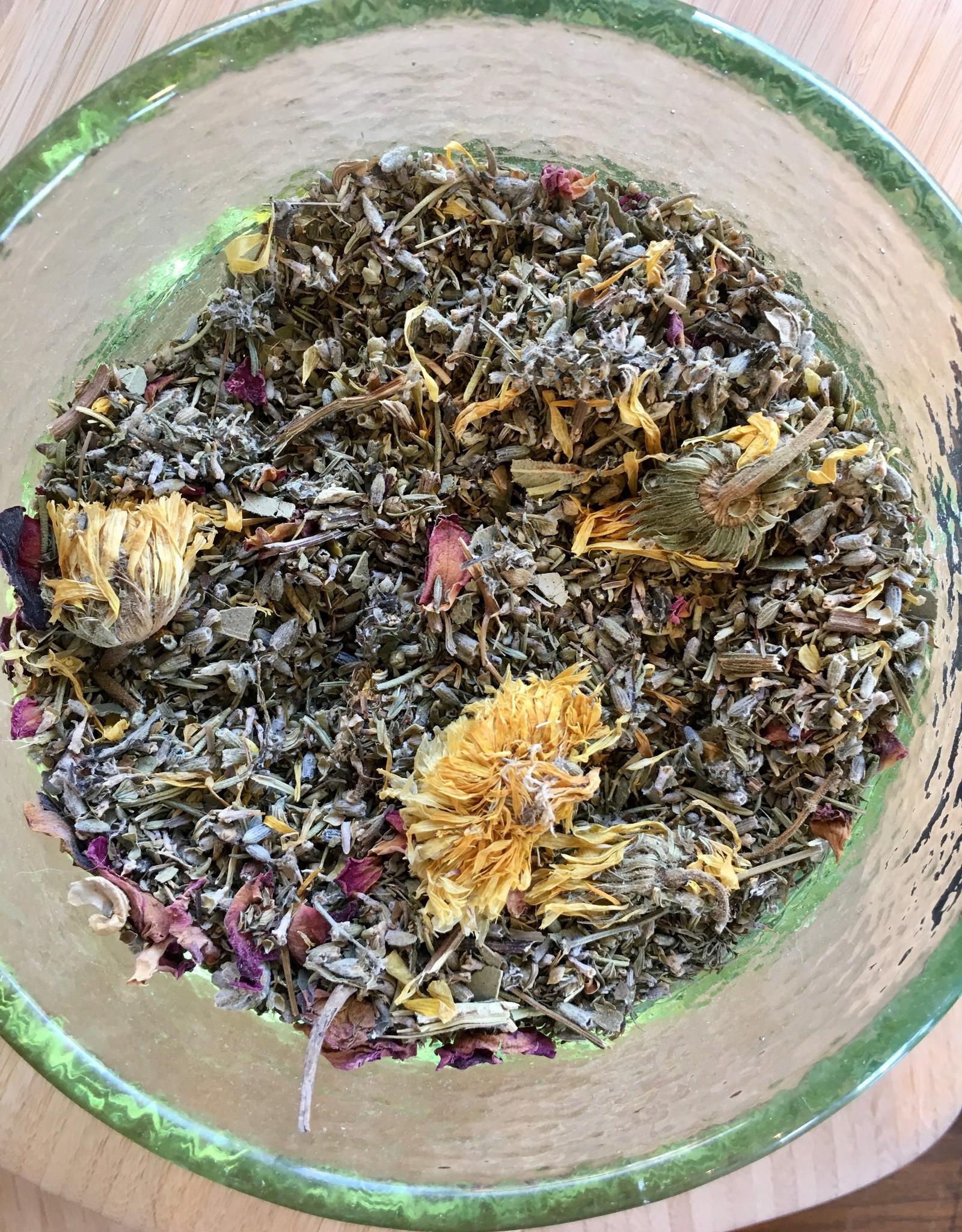 Herbal Bath Blend in Organic Cotton Bag
