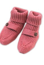 Viverano Heather Knit Baby Booties Rose