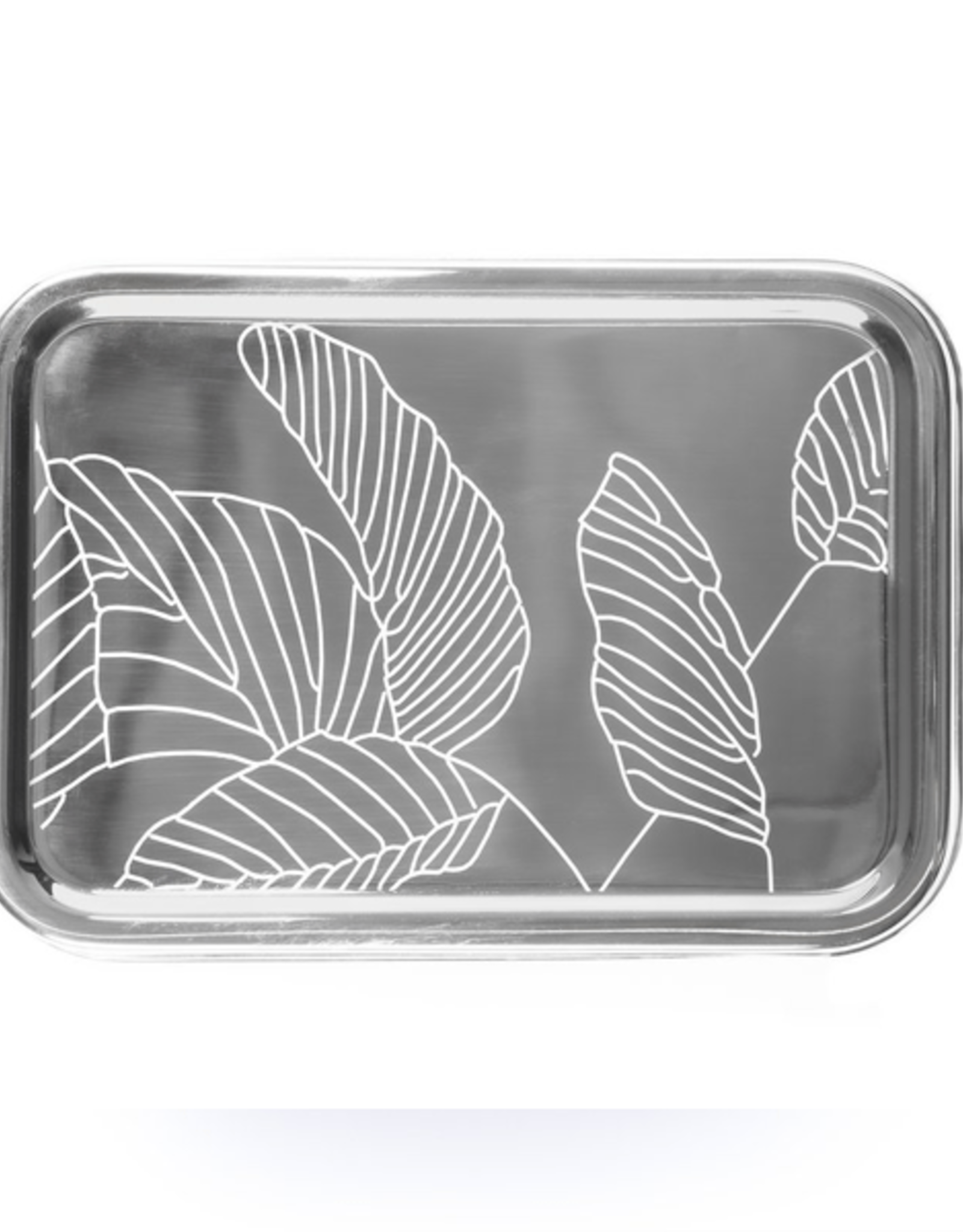 Solo Rectangle Engraved with Leaves