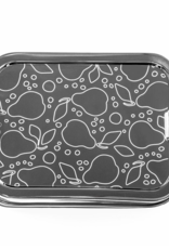 Three-in-One Lunch Box Engraved with Pears & Dots