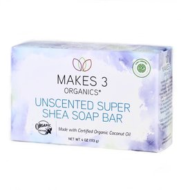 Makes 3 Organic Soap Super Shea (Unscented)