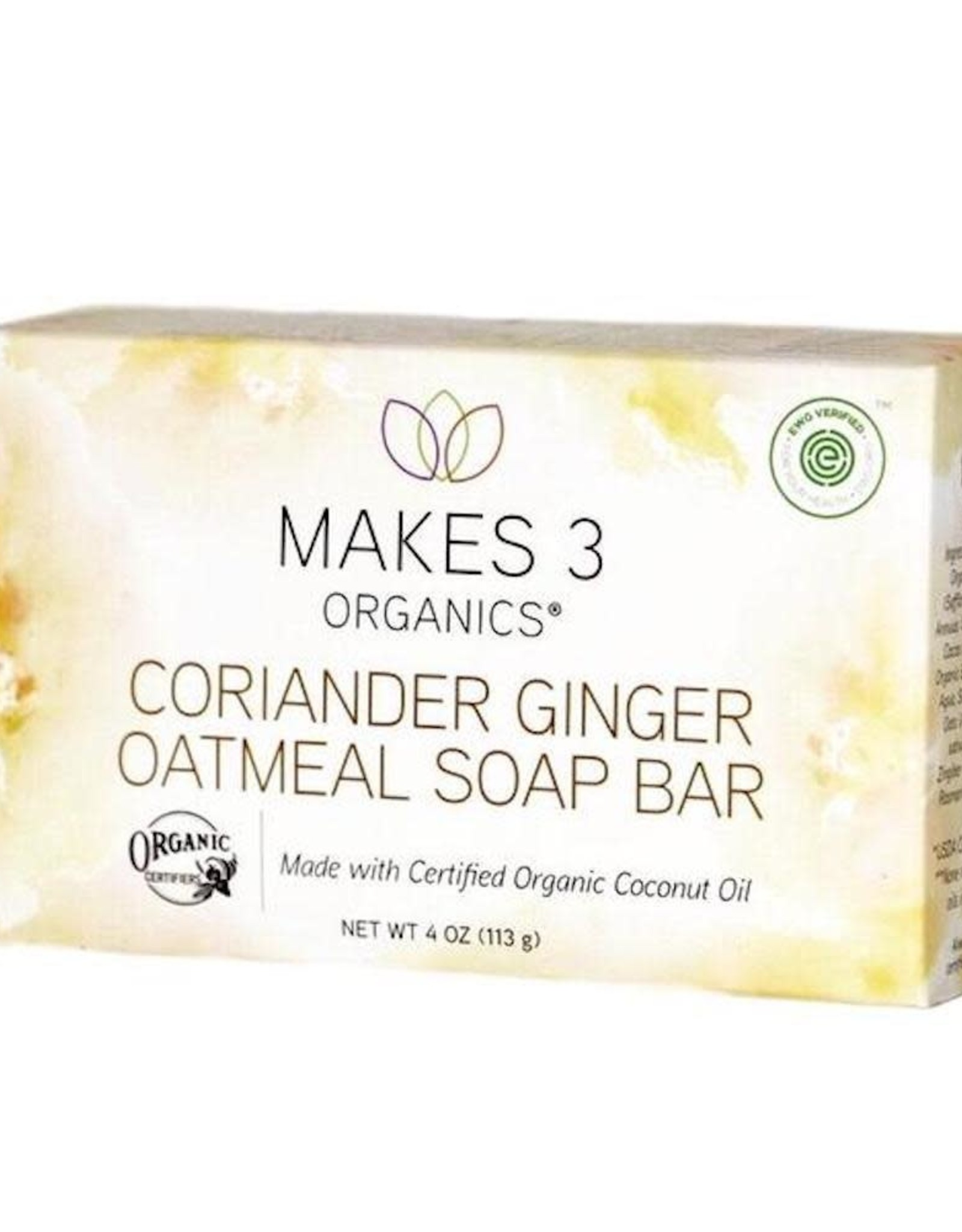Makes 3 Organic Soap Coriander, Ginger, & Oatmeal