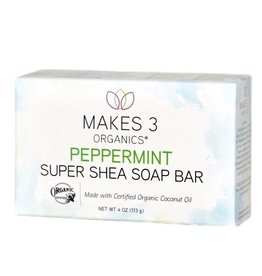 Makes 3 Organic Soap Peppermint Shea