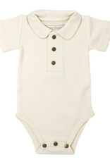 L'oved Baby Polo Bodysuit Beige