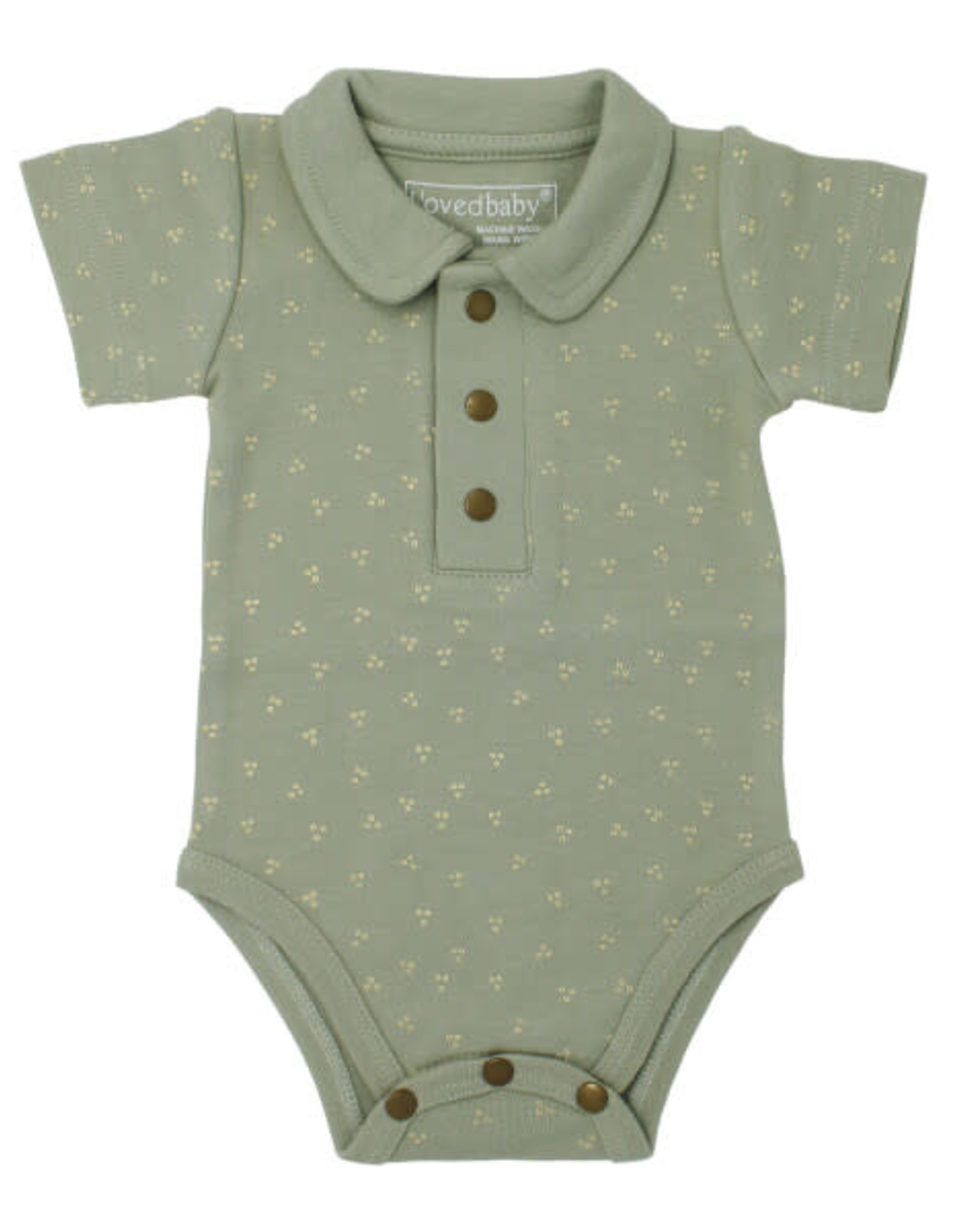 L'oved Baby Polo Bodysuit Fern Dots