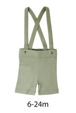 L'oved Baby Suspender Shorts Fern
