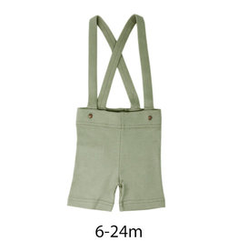 L'oved Baby Suspender Shorts Fern